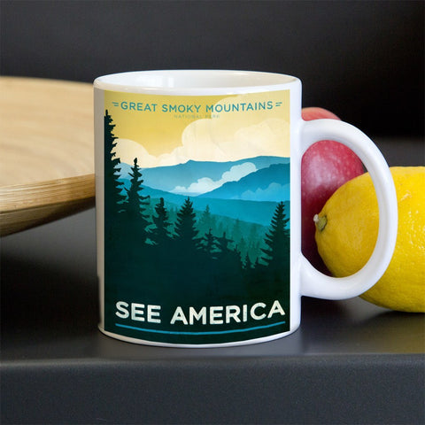 Great Smoky Mountains National Park Mug by Jon Cain for See America