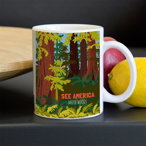 Muir Woods National Monument Mug by Shayna Roosevelt for See America