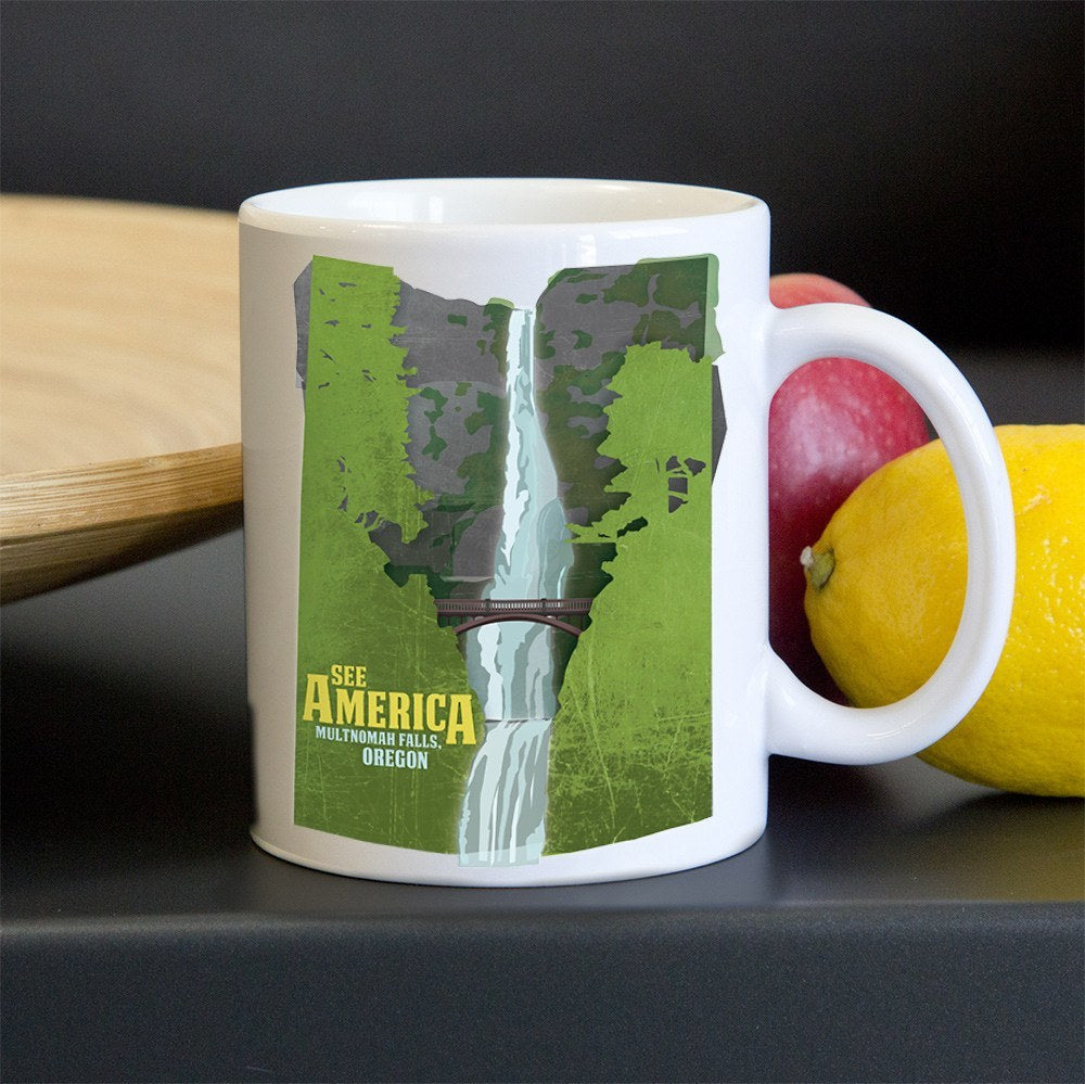 Multnomah Falls, Lewis and Clark National Historic Trail Mug by Design By Goats for See America
