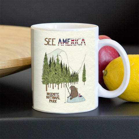 Yosemite National Park Mug by Naomi Sloman for See America