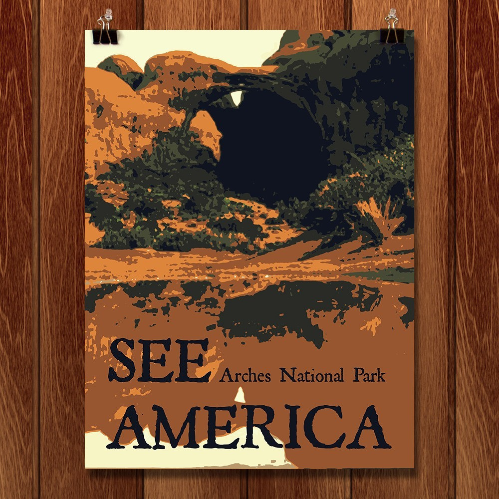 Arches National Park by Rendall M. Seely for See America - 1