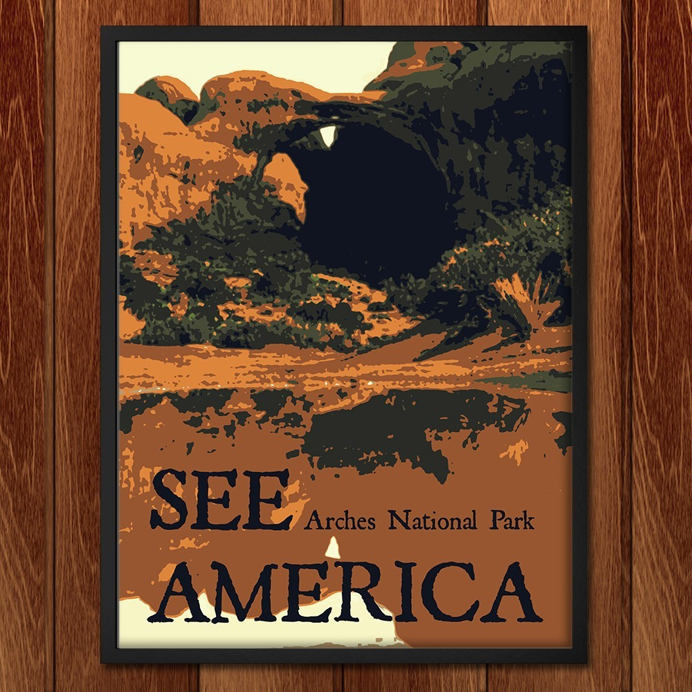 Arches National Park by Rendall M. Seely for See America - 2