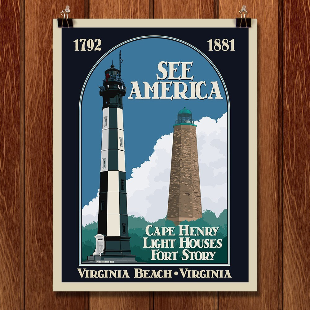 Cape Henry Lighthouses, Colonial National Historical Park by Don Henderson for See America - 1