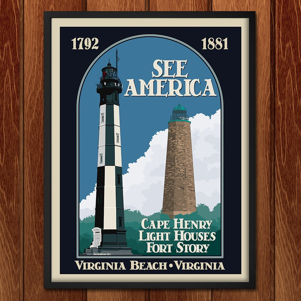 Cape Henry Lighthouses, Colonial National Historical Park by Don Henderson for See America - 2