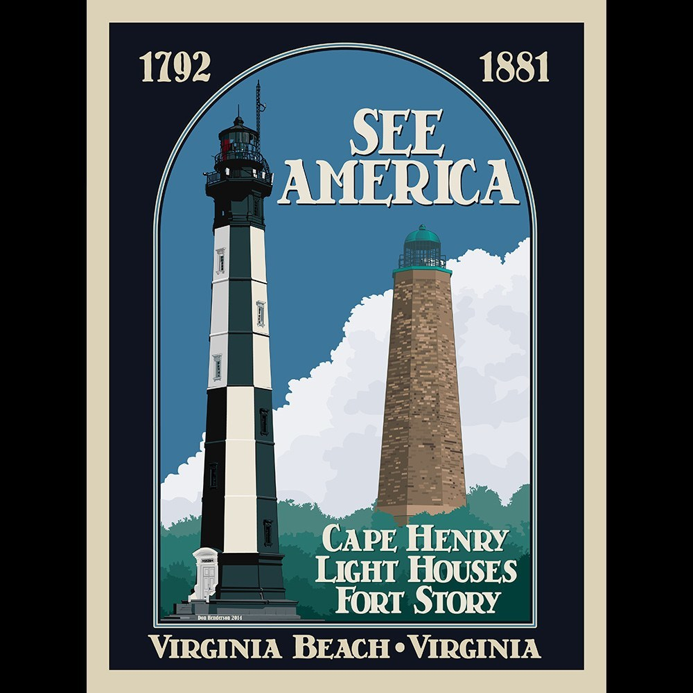 Cape Henry Lighthouses, Colonial National Historical Park by Don Henderson for See America - 3
