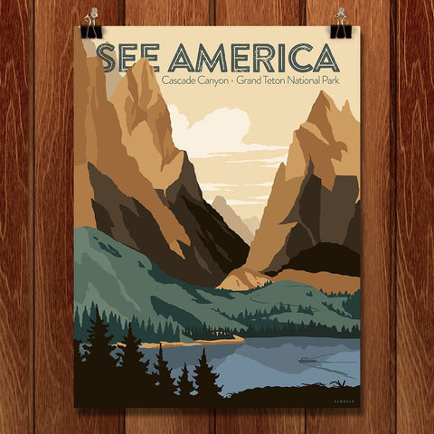 Cascade Canyon, Grand Teton National Park by Jonathan Scheele for See America - 1