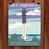 Charleston Light, Fort Sumter National Monument by Amelia M. Spade for See America - 1