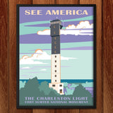 Charleston Light, Fort Sumter National Monument by Amelia M. Spade for See America - 2