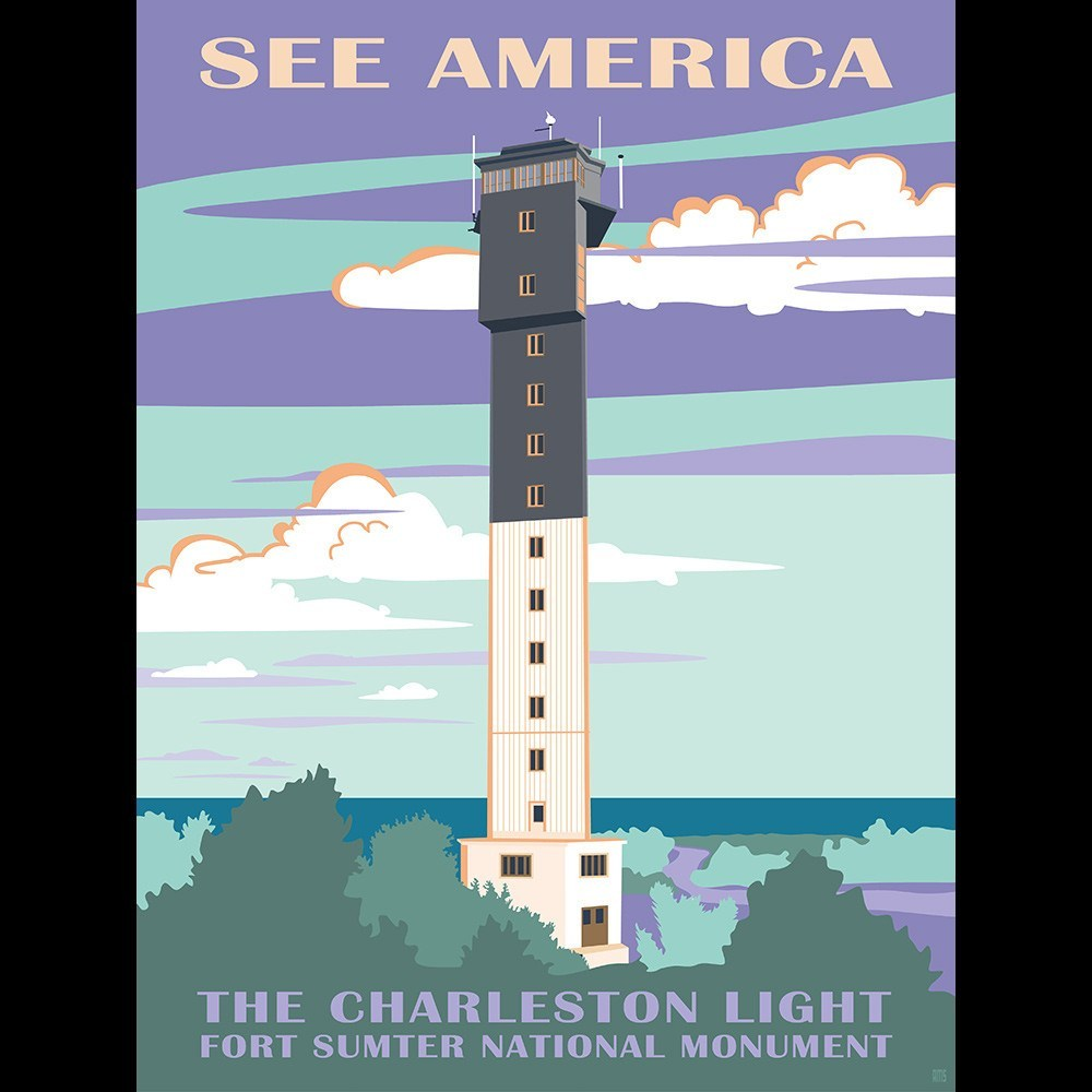 Charleston Light, Fort Sumter National Monument by Amelia M. Spade for See America - 3