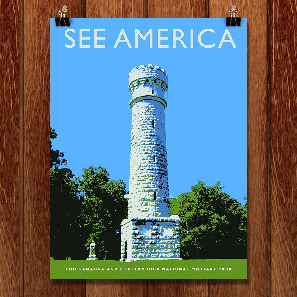 Chickamauga and Chattanooga National Military Park by Darrell Stevens for See America - 1
