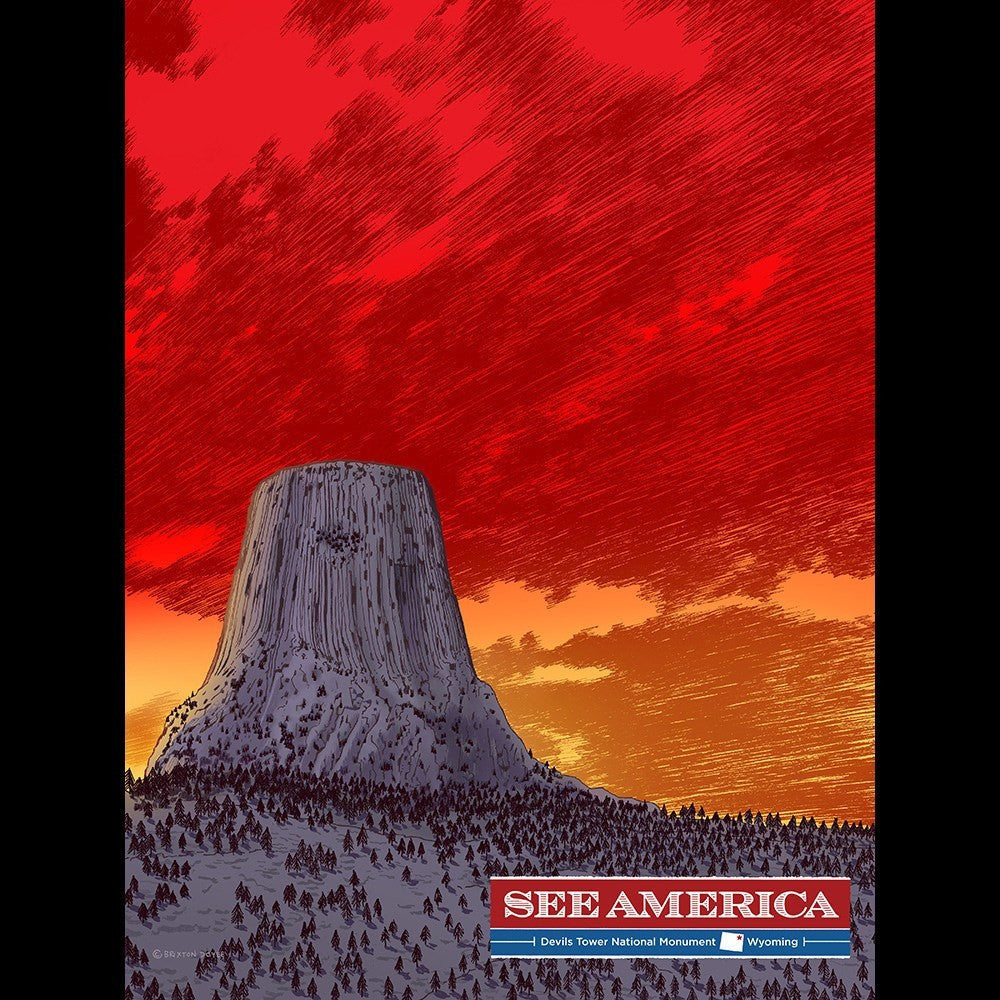 Devils Tower National Monument by Brixton Doyle for See America - 3