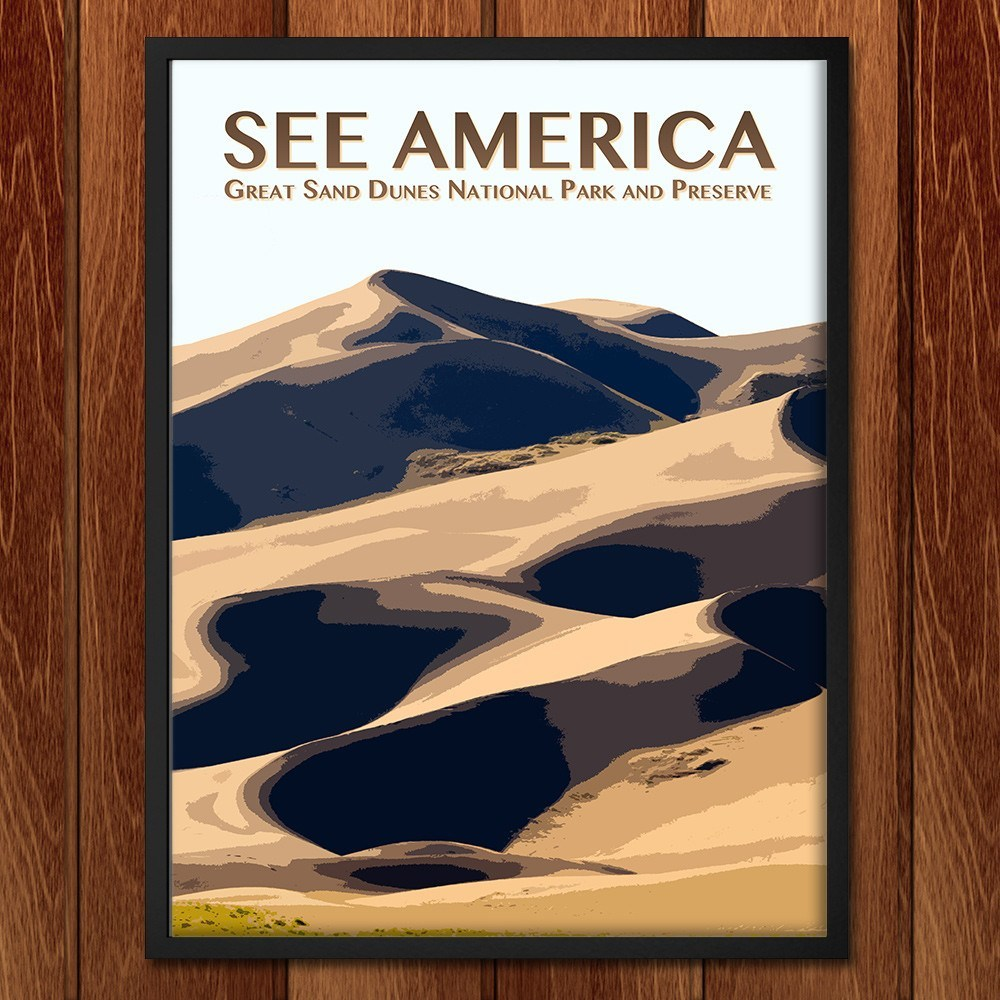 Great Sand Dunes National Park and Preserve by Zack Frank for See America - 2