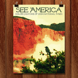 Kolob Canyons, Zion National Park by Rendall M. Seely for See America - 1