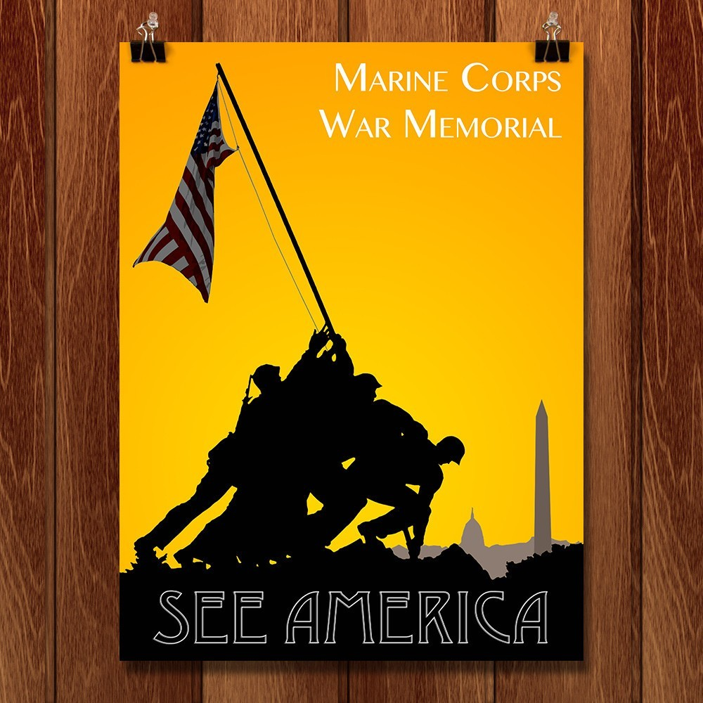 Marine Corps War Memorial by Zack Frank for See America - 1