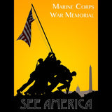 Marine Corps War Memorial by Zack Frank for See America - 3