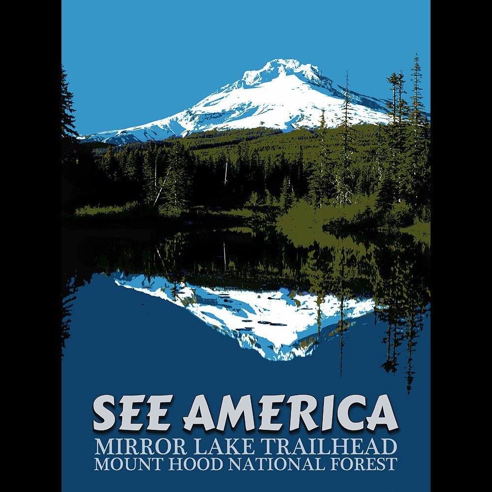 Mirror Lake Trailhead, Mount Hood National Forest by E. Michelle Peterson for See America - 3