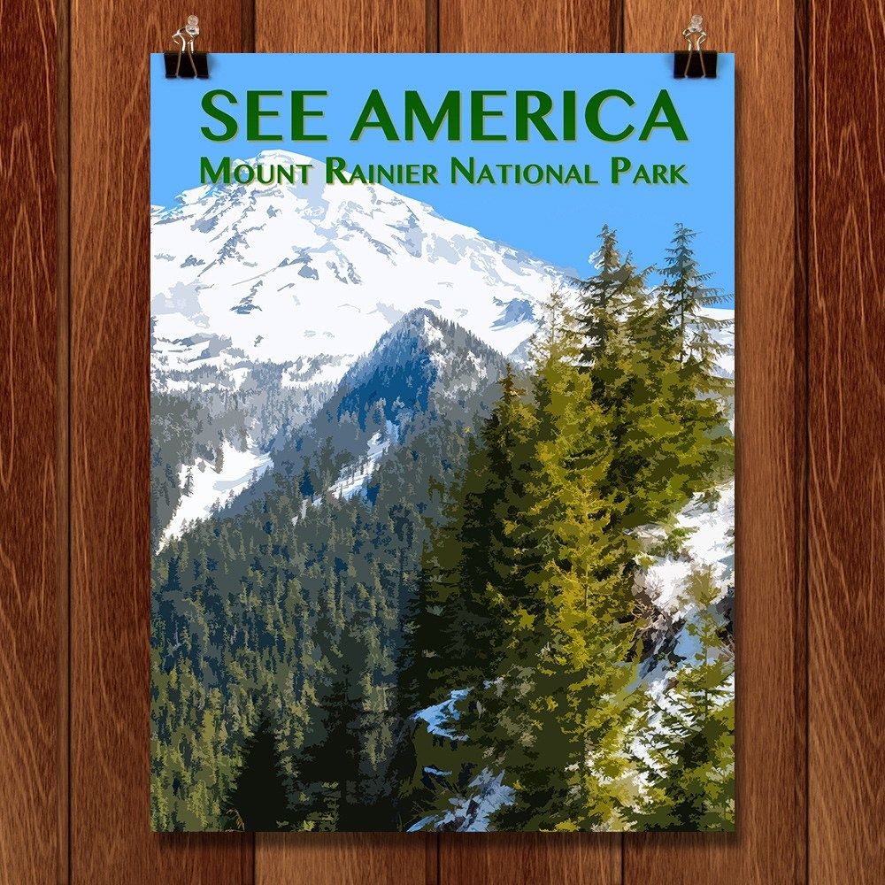 Mount Rainier National Park by Zack Frank for See America - 1