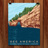Pictured Rocks National Lakeshore by Mark Forton for See America - 1