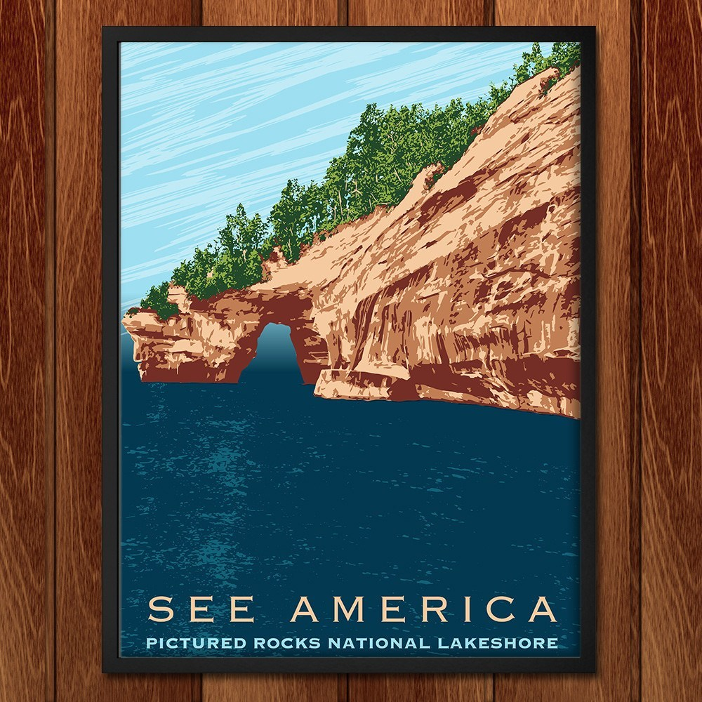 Pictured Rocks National Lakeshore by Mark Forton for See America - 2