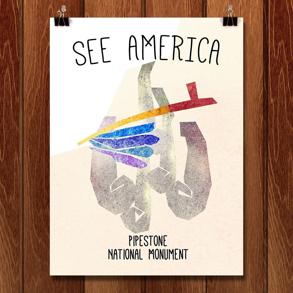 Pipestone National Monument  by Eleanor Beeden for See America - 1