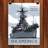 USS Missouri by Marcia Brandes for See America - 1