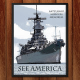 USS Missouri by Marcia Brandes for See America - 2