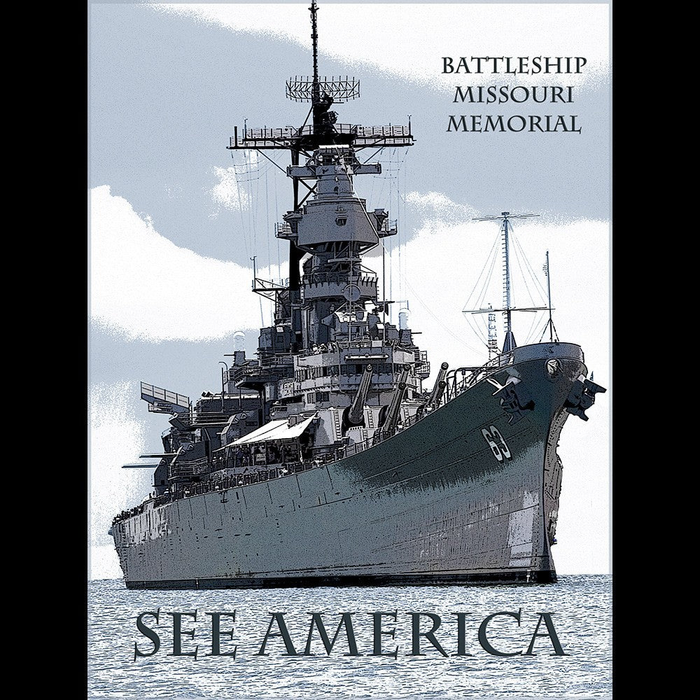 USS Missouri by Marcia Brandes for See America - 3