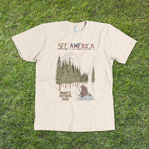 Yosemite National Park T-Shirt by Naomi Sloman for See America - 1