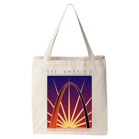 Jefferson National Expansion Memorial Tote Bag by Shane Henderson for See America