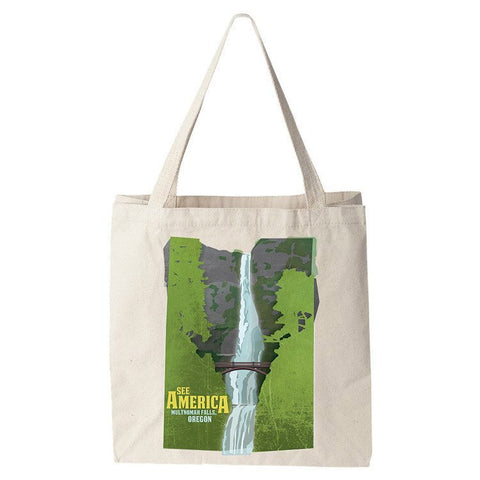 Multnomah Falls, Lewis and Clark National Historic Trail Tote Bag by Design By Goats for See America