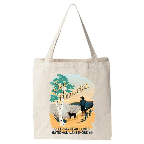 Sleeping Bear Dunes National Lakeshore Tote Bag by Esther Licata for See America
