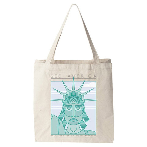 Statue of Liberty National Monument Tote Bag by Shane Henderson for See America