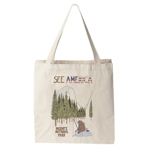 Yosemite National Park Tote Bag by Naomi Sloman for See America