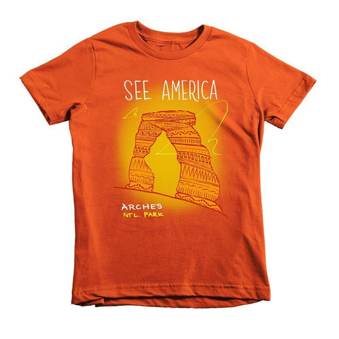 Arches National Park Youth T-Shirt by Kendall for See America