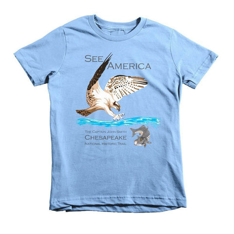 Captain John Smith Chesapeake National Historic Trail Youth T-Shirt by Candy Medusa for See America