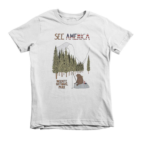 Yosemite National Park Youth T-Shirt by Naomi Sloman for See America
