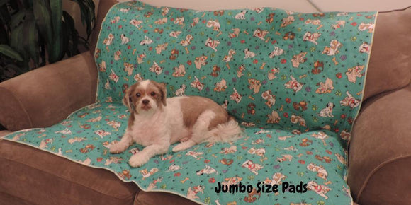 Green Multi Dog Washable Leak Proof Pet Pads