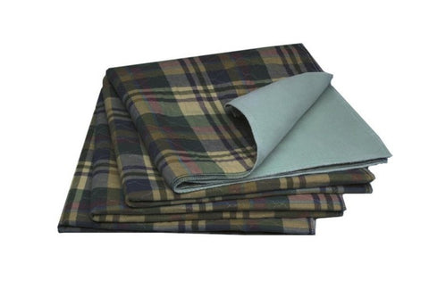 Tartan Plaid Print Washable pet pad