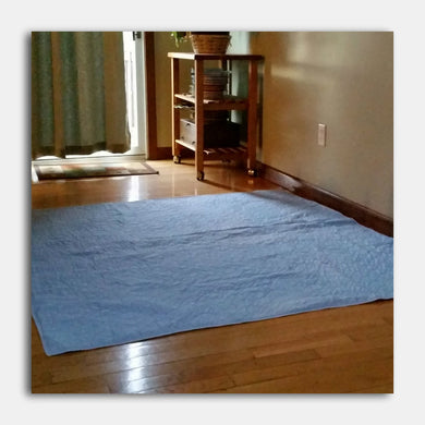 PersonallyPaws.com 60x60 Indicator Blue washable Leak Proof Pet pads