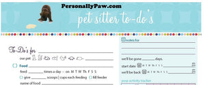 Pet Sitter To-Do Guide