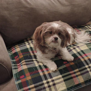 PersonallyPaws.com 34x36 Tartan plaid washable Leak Proof Pet pads