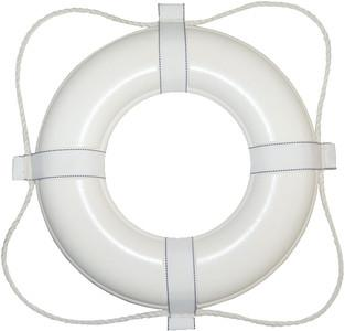 24 Inch White Foam Ring Buoy 361 - Life Ring - POOLSTYLE - The Pool Supply Warehouse