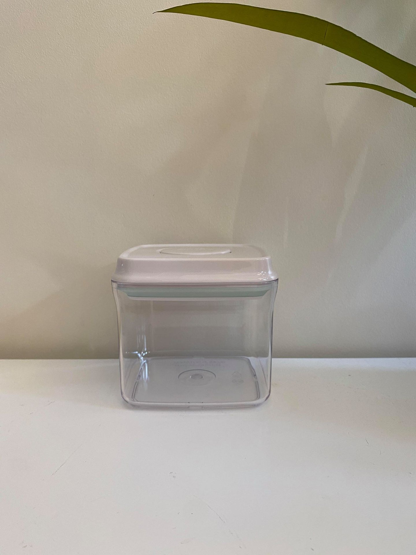 Lux White Push Top Container-850ML