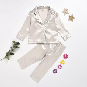 Satin PJ's | Kids Long Set