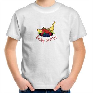Unisex Children's T-Shirt with BERRY LOVELY logo - svpatterndesigns