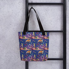 Load image into Gallery viewer, Tote bag UNDERWATER FRIENDS textile print N/A - svpatterndesigns