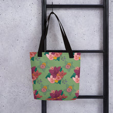 Load image into Gallery viewer, Tote bag with ELEGANT FLORAL PATTERN (Larger Print) - svpatterndesigns