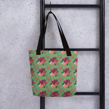 Load image into Gallery viewer, Tote bag with ELEGANT FLORAL PATTERN (Smaller Print) - svpatterndesigns