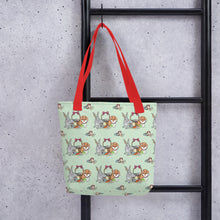 Load image into Gallery viewer, Tote Bag BUNNIES FULLY STOCKED with all-over-print - svpatterndesigns
