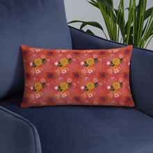 Load image into Gallery viewer, Pretty autumn flower drawing on cushion
